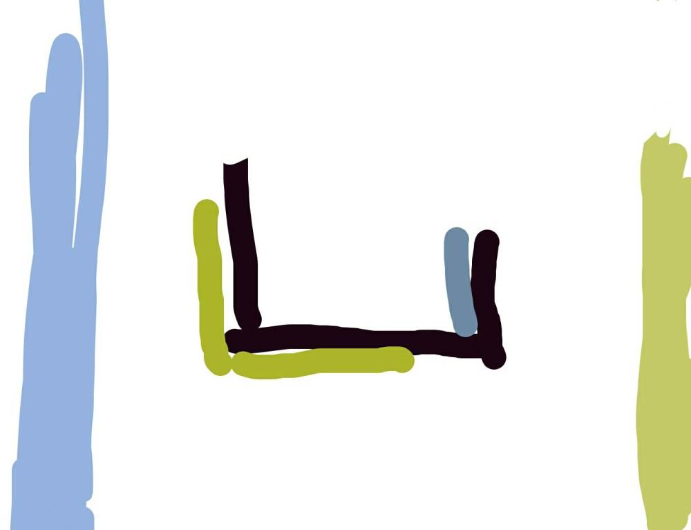 Sketch in Picasso app as original idea