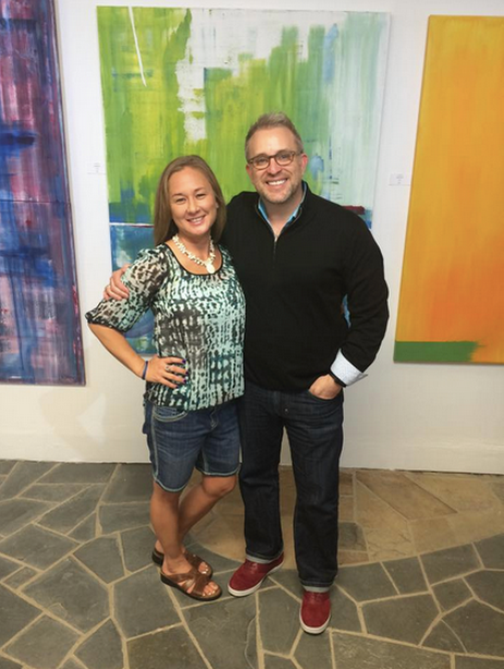 With Susanne Nelson at Deep Forest Gallery